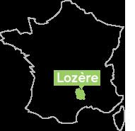 Lozère en France, pour trouver l'Auberge du Moulin